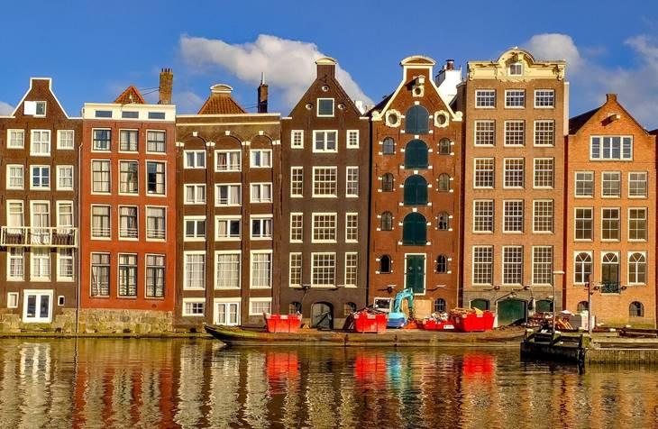 Arhitektura i boje Amsterdama na jesen