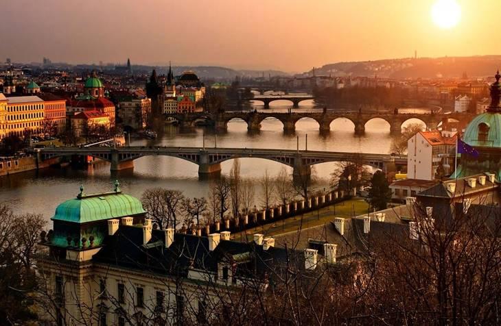 Panorama Praga na jesen