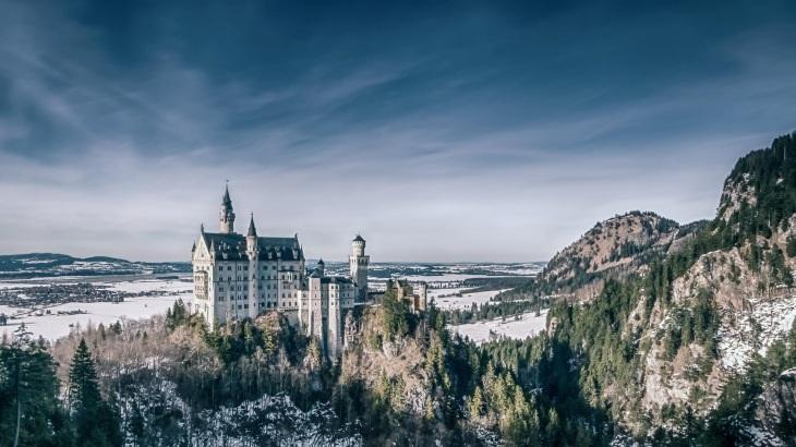 Dvorac Nojsvanstajn zimi
