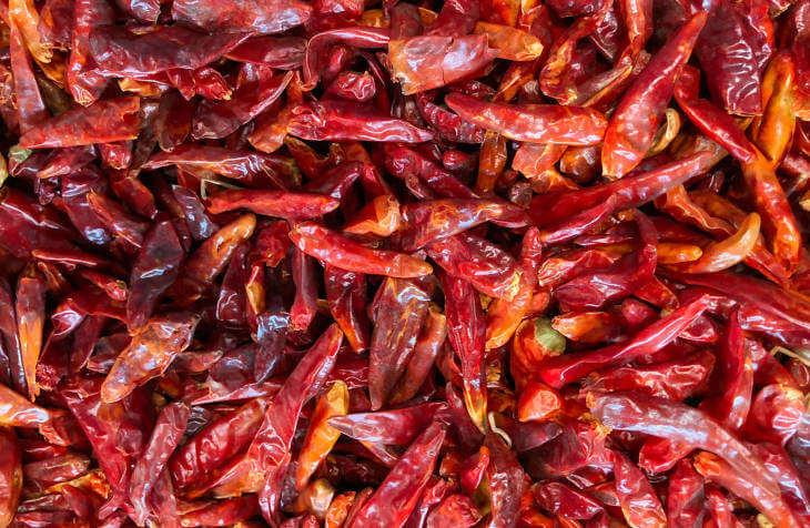 Sušene crvene paprike za pripremu pasulja