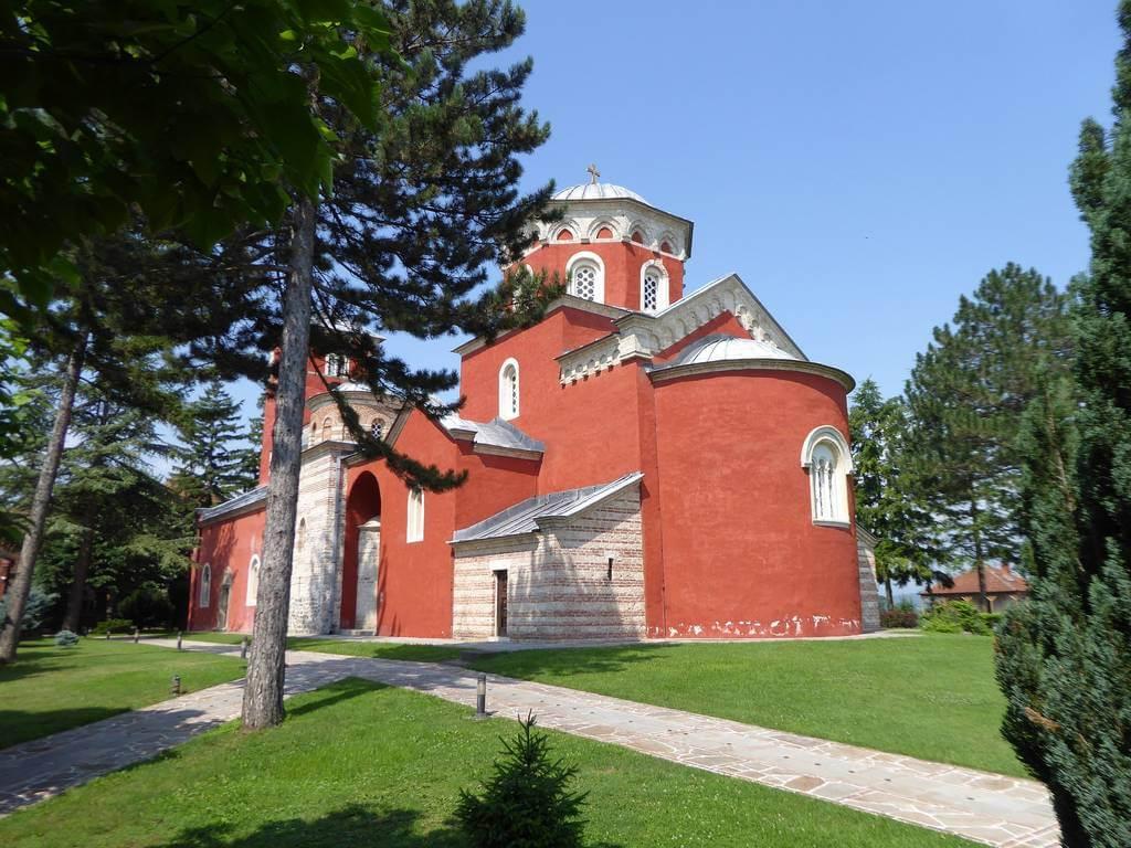 prikaz manastira Žiča