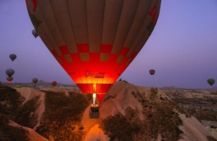 prikaz balona u Kapadokiji